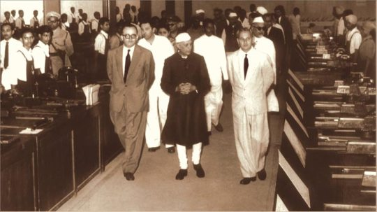 1958 -  India's First Prime minister at Tata Apprentice shop - Jamshedpur