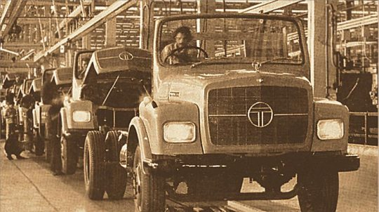 1977 - Tata manufactures its first commercial vehicle at its plant in Pune