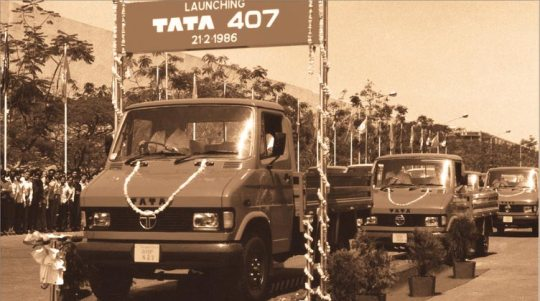 1986 - Tata launches its first light commercial vehicle from Telco, the Tata 407