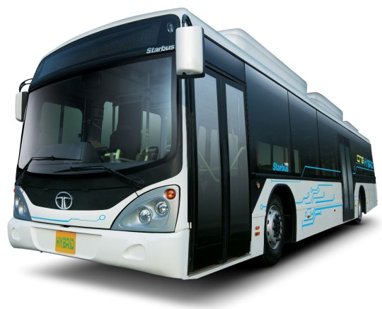 2010 - Tata Marcopolo Motors Ltd.- a joint venture between Marcopolo and Tata Motors delivered the first LNG hybrid Electric Starbus developed to New Delhi Public Transport