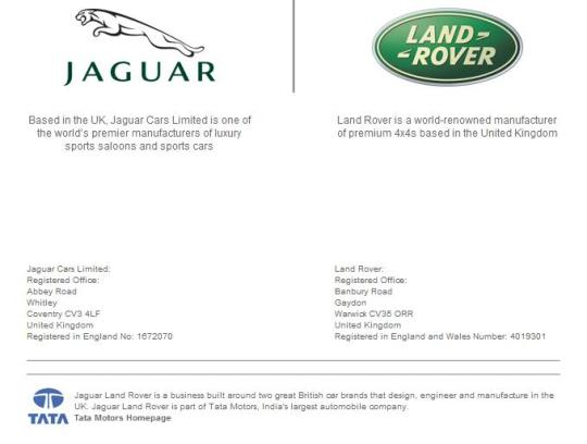 2008 - Tata acquired two great British car brands Land Rover and Jaguar